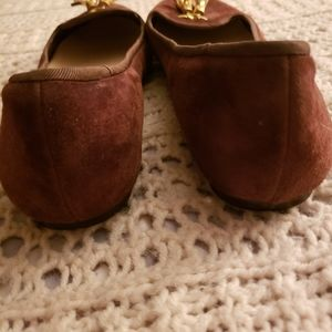 Cole Haan Shoes - 💞COLE HAAN BROWN SUEDE GOLD TASSLE LOAFERS💞